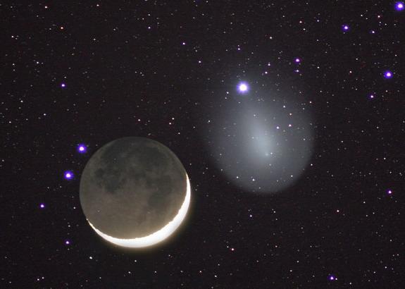 17holmes_kometa_and_Moon_2007_11_18